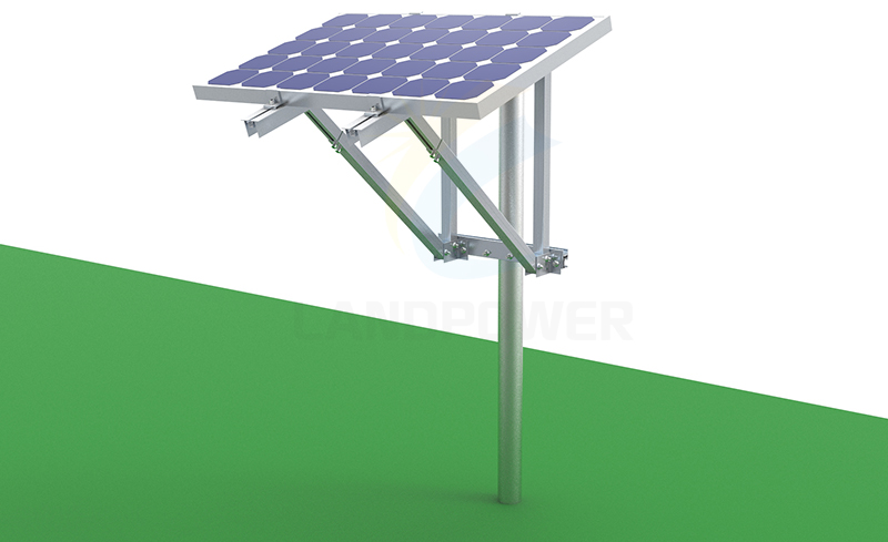Top of Solar PV Pole Mount